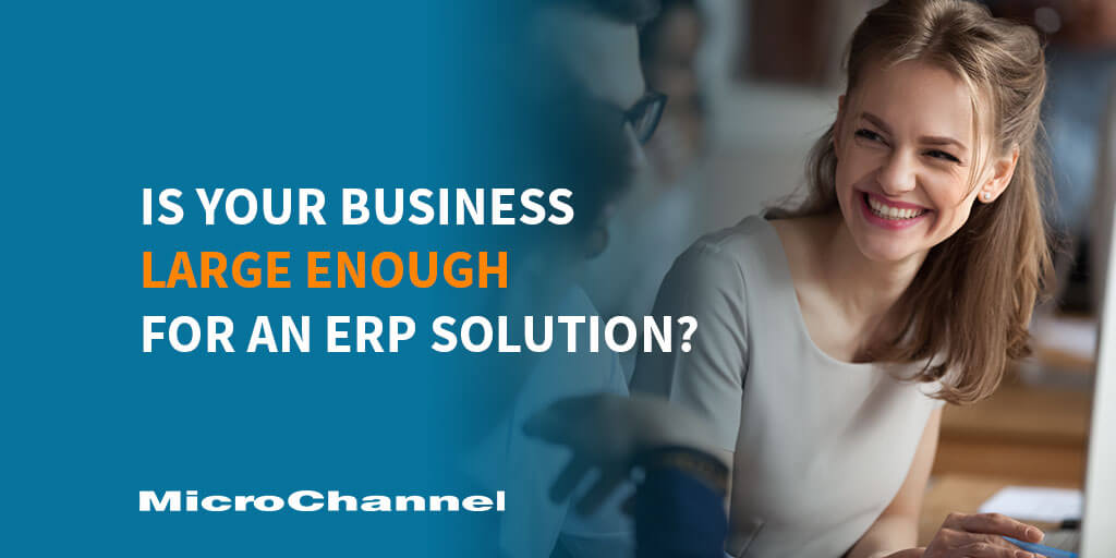 Is Your Business Large Enough For An ERP Solution?
