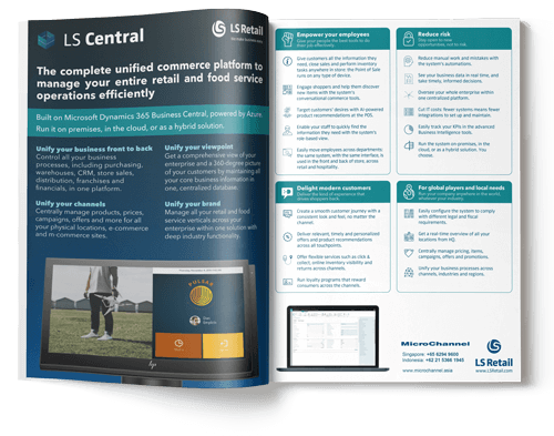 ls central retail management solution brochure