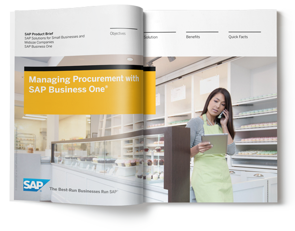 sap business one procurement