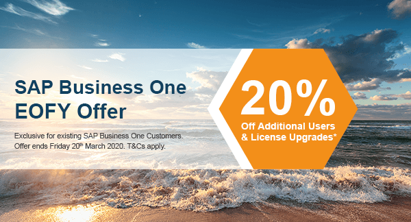 sap business one new zealand promotion